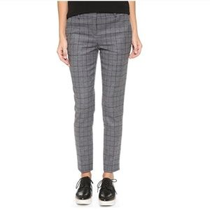 Theory Adroit Treeca CL Plaid Wool Blend Pants